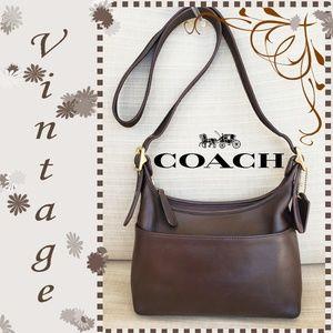 Coach Vintage Brown Leather Shoulder Purse Bag
